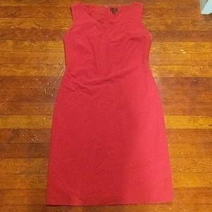 Candy apple red sheath dress